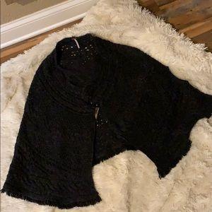 Free People sweater poncho